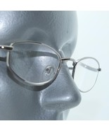 Reading Glasses Shiny Gray Metal Oval Octagon Narrow Hip +3.00 Lens Stre... - $14.97