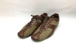 1623276291b GUCCI leather switch sneaker size 42 Men  39 s brown khaki shoes -  297.00