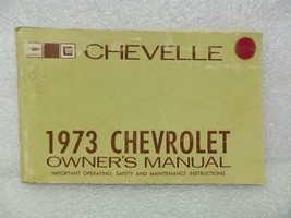 1973 Chevelle Owners Manual 16003 - $18.76