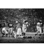 Chuck Bednarik Eagles Frank Gifford Giants 1960 SFOL 28X35 BW Football P... - $45.95