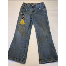Girls Disney Store Snow White Embroidered Jeans Size 4 Flare Bottom - $14.69
