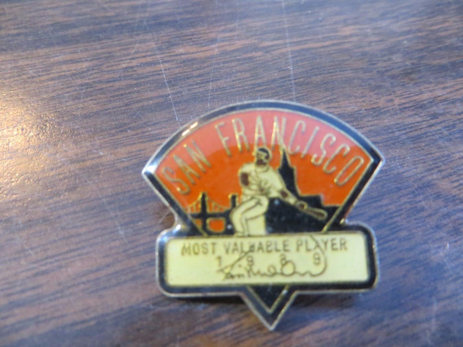 SAN FRANCISCO MOST VALUABLE PLAYER BASEBALL MLB,CHEVRON GAS ADVERTISING pin