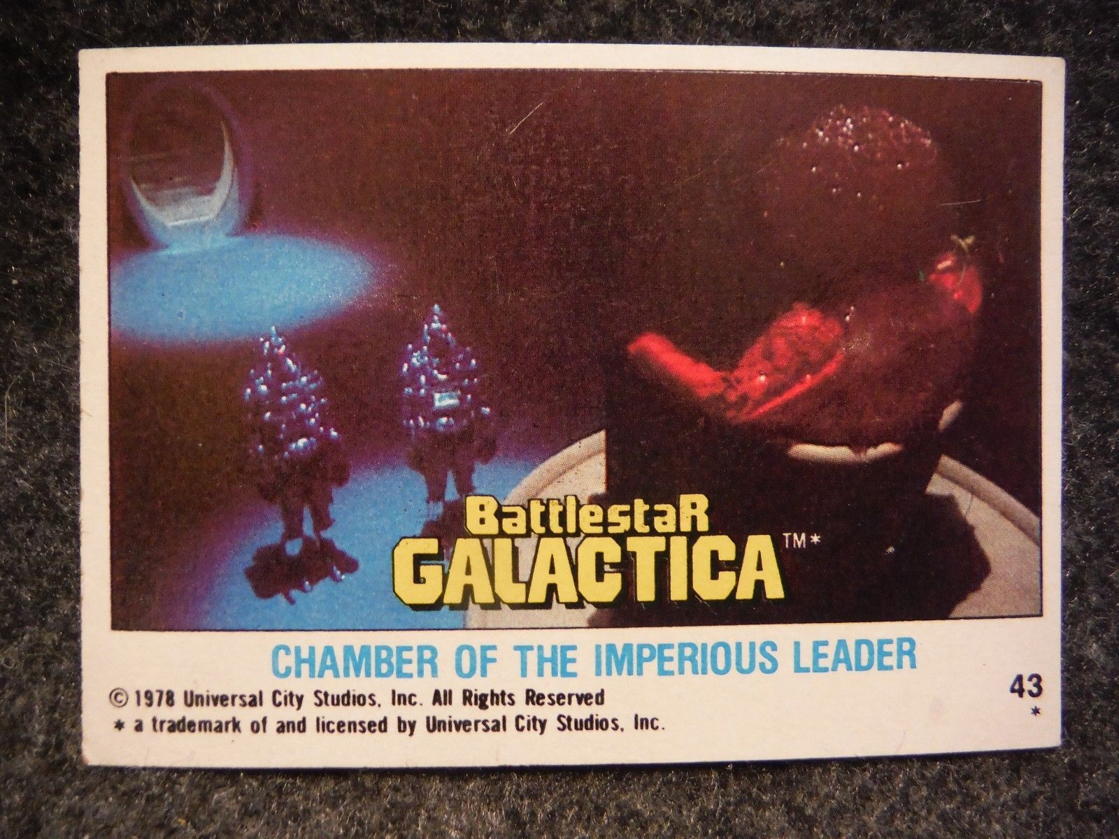 Imperious Trading Delf: Battlestar Galactica 1978 Topps Trading Card # 43 Chamber