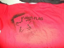 ANTI-FLAG - Red Guns/Star Logo T-Shirt ~Never Worn~ XL - $13.86