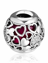 CKK Encased in Love Charm Fit for Pandora Bead Bracelet 100% (2-Love Hea... - $29.36