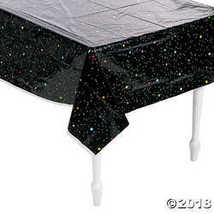 Fun Express Inc. Outer Space Party Stars Plastic Tablecloth - $4.61