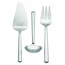 Waterford Lismore Bead Stainless 3-Piece Serving Set 18/10 Stainless New 154279 - $79.94