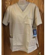 Shirt Tops Nursing Scrubs Cherokee Workwear Khaki Unisex Adult Size Large Set 2 - $24.74