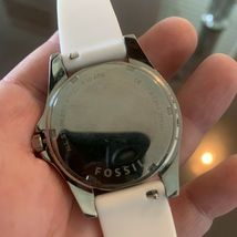 Fossil Ladies' Silicone Comfort Band Multifunction Watch White NEW BATTERY image 3
