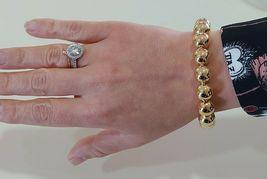 18K YELLOW GOLD BRACELET, SEMIRIGID, ELASTIC, BIG 10 MM SMOOTH BALLS SPHERES image 6