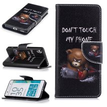 XYX Wallet Phone Case for Xperia XA,[Do not Touch My Phone][Kickstand] Painted D - $9.88