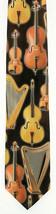 String Instruments Mens Necktie Music Musician Ralph Marlin Harp Black N... - $24.75