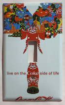 Live on Coke Coca-Cola bottle Light Switch Outlet wall Cover Plate Home Decor image 1