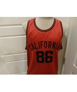 Red Sewn California #86 Polyester Basketball Jersey Adult L Excellent Condition - $26.72