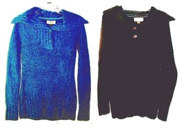 Size S, M, L - NWT$40 Sonoma High Neck Acrylic Sweaters in Blue or Black - $22.55+