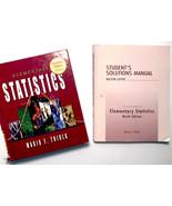 Textbook and Workbook Elementary Statistics 2004 Mario F Triola 9th Edition - $45.00
