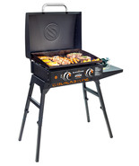 Blackstone Griddle Grill Tabletop 22 Inch Stand Hood Hose Cooking Portable BBQ - $199.99