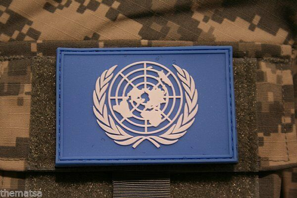 Primary image for UNITED NATIONS PVC FLAG PATCH WITH HOOK LOOP BACKING  3 X 2