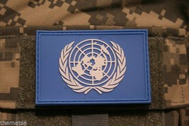 UNITED NATIONS PVC FLAG PATCH WITH HOOK LOOP BACKING  3 X 2 - $18.04