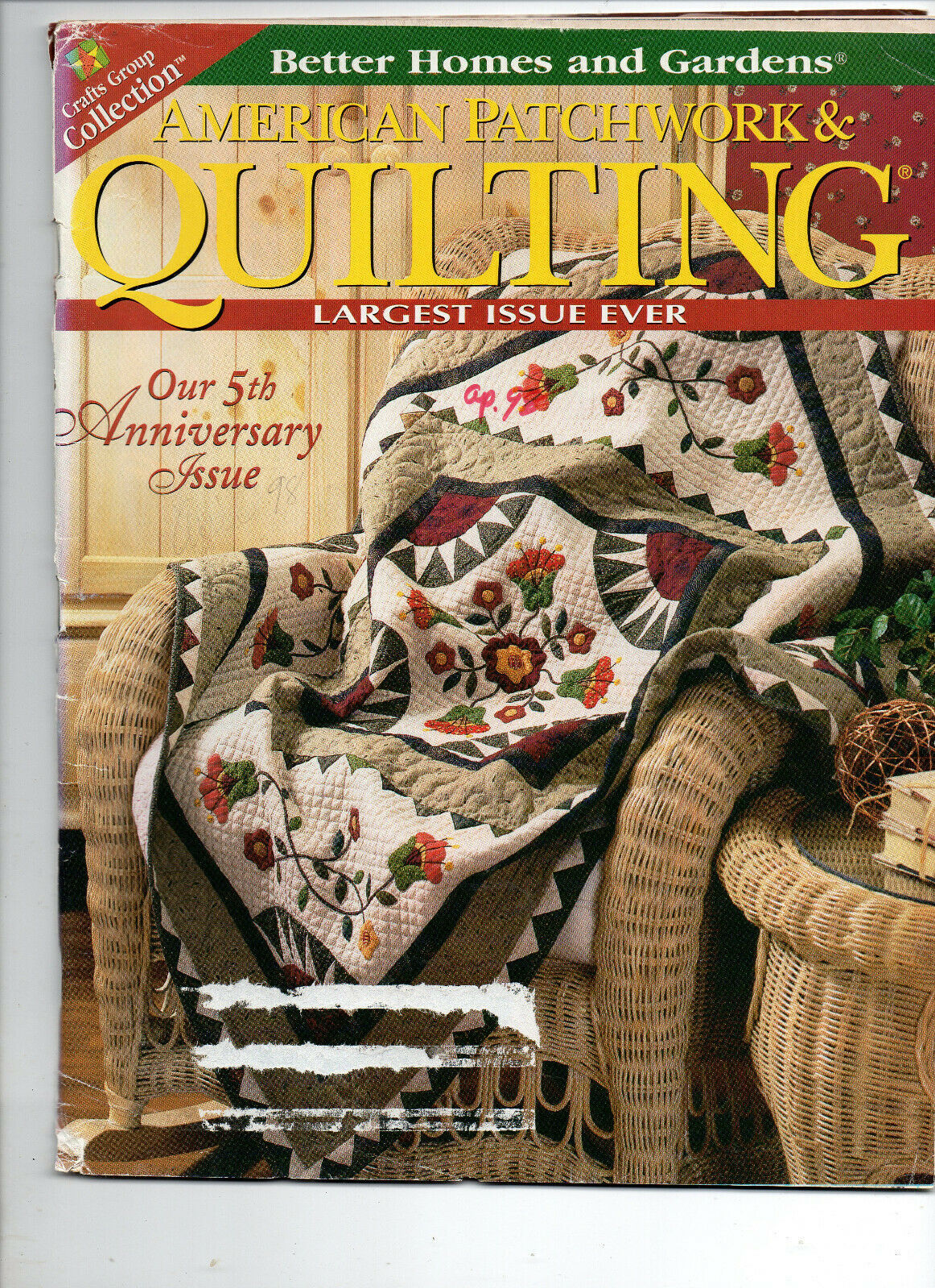 Primary image for April 1998/American Patchwork & Quilting/Preowned Craft Magazine