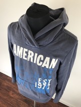 AMERICAN EAGLE Graphic Logo Pullover Hooded Sweatshirt Blue Hoodie Men's... - $531,82 MXN