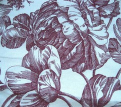 Waverly Garden Room Toile Dark Cherry Red Floral Standard Sham - $19.95