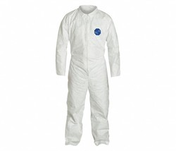 2 Collared Disposable Coveralls Open Cuff, Tyvek® 400 Material, White, M... - $8.90