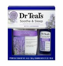 Dr Teal's Soothe & Sleep Lavender Epsom Salt & Foaming Bath Oil Sampler ... - $17.82
