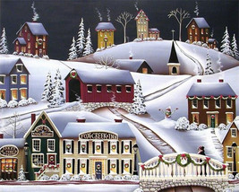 "Chrismas Scene 16X20"" Paint By Number Kit DIY Acrylic Painting on Canvas... - $8.90"