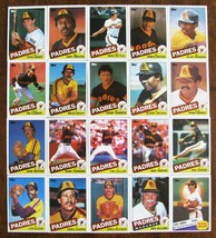 SAN DIEGO PADRES 1985 TOPPS PLAYER CARDS LOT OF 20 - $1.98