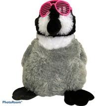 "Penguin Plush Hot Pink Sunglasses Stuffed Animal Soft Toy 14"" Ideal Toys... - $17.80"