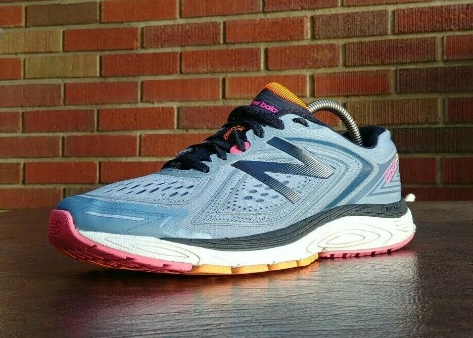 WOMENS NEW BALANCE 860 V8 RUNNING SHOES SZ 11 D WIDE USED SNEAKERS TRAINERS