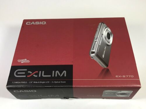 Primary image for Casio EXILIM CARD EX-S770 7.2MP Digital Camera - Silver L1