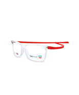b9623cdad1 New Tag Heuer TH3051 006 49MM Clear  amp  Red Frame RX Eyeglasses Optical  Frame -