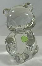 """Fenton Art Glass Crystal Emerald May Birthstone Bear Cub Paperweight 3.5"""" - $14.50"""