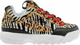 NIB*Fila Disruptor II Animal Sneaker*Size 5.5-11*Black white Zebra Leopard - $190.00 CAD
