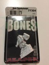Reaper Miniatures Male Thunderknight #77304 Bones Unpainted Plastic Mini... - $2.63