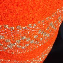 Vtg St John Knits Wiggle Groovy Hostess Sweater Dress Orange Gold Metallic M image 9