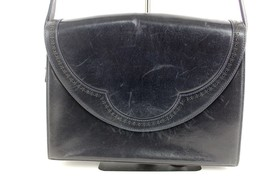 Authentic Bally Drak navy blue leather shoulder... - $69.30
