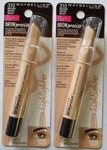 Maybelline Brow Precise Perfecting Highlighter - MEDIUM #310~ Two (2) Pack - $6.42