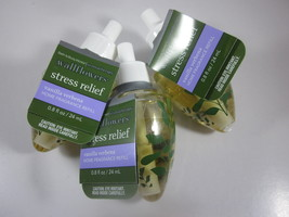 3 Bath & Body Works Wallflower Refill Bulbs Stress Relief Vanilla Verbena - $39.99