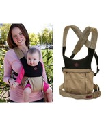 Belle Cruz Ergonomic Baby Carrier, Multi-Carrying Positions, Microsuede Khaki  - $56.99