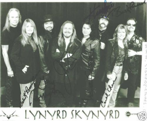 LYNYRD SKYNYRD GROUP BAND SIGNED AUTOGRAPH 8X10 RP ALL 7 SOUTHERN ROCK FREE BIRD