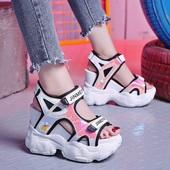Primary image for 2019 Summer Women's Sandals High Heels Sandals For Women 11CM Heels Gladiator Sa