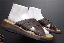 Men's Dr. Martens Brown Oiled Leather Slide Sandal Sz. 5 Excellent! - $45.96 CAD