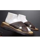 Men's Dr. Martens Brown Oiled Leather Slide Sandal Sz. 5 Excellent! - $34.16