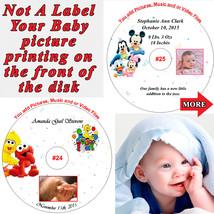 Baby Keepsake Personalized CD or DVD Disk Digital Photo/Video Album NOT ... - $8.50