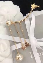 Authentic Christian Dior Star Crystal PERLES DE DÉSIR Dangle Drop EARRINGS  image 3