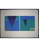 Norlynne Coar, Listed Artist Original Abstract Monoprint, Pencil Signed #2 - $137.66