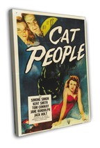 Cat People 1952 Vintage Movie FRAMED CANVAS Print 15 - $19.95+